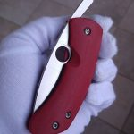 Filip de Leeuw Custom Knives (Deviant Blades) Chinese Friction Folder G10 rot zu verkaufen for sale