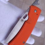 Filip de Leeuw Custom Knives (Deviant Blades) Friction Folder G10 orange zu verkaufen for sale