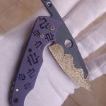 Mike Snody Custom Knives Friction Folder #2 Titan mit Carbidbeschichtung: for sale / zu verkaufen